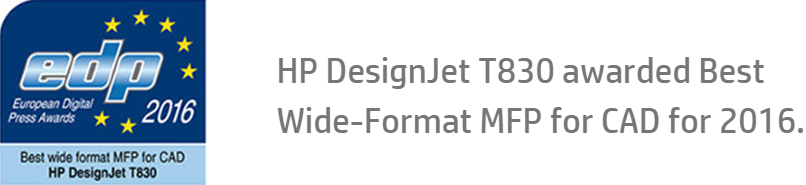 HP DesignJet T830 awarded Best Wide-Format MFP for CAD for 2016.